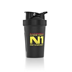 Шейкер Nutrend - 400 мл черный N1